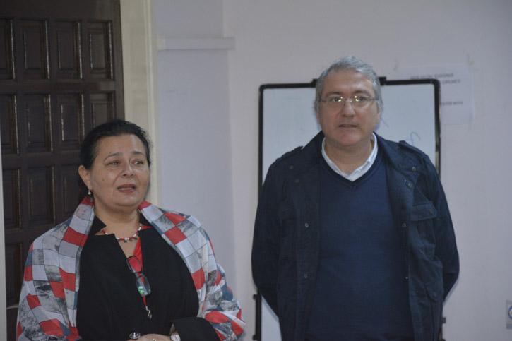 Radyo TV Bölüm Başkanı Doç. Dr. Bahire Özad ve Bölüm Başkan Yardımcısı Ahmet Goran