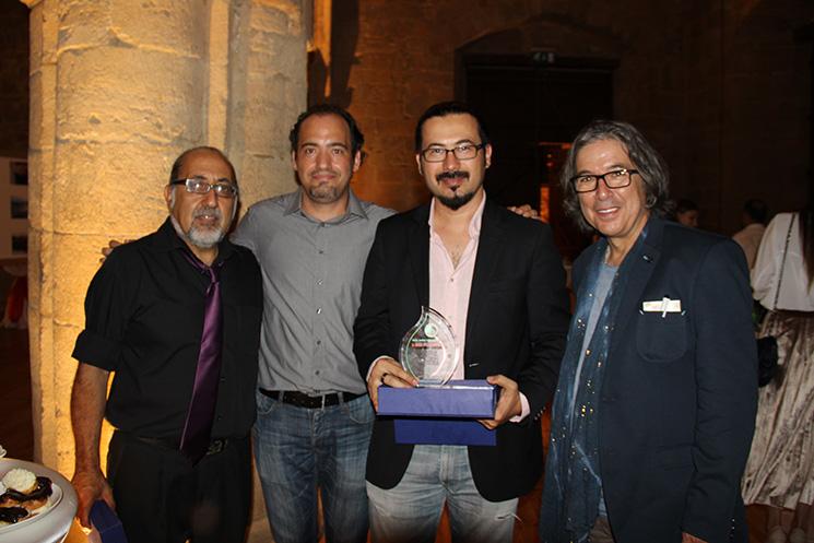 Soldan sağa: Ertaç Hazer (Oyuncu-Yönetmen), Engin Aluç (Senarist), Mert Yusuf Özlük (Yönetmen), Göksel Gülensoy (Belgesel Yönetmeni ve yapımcı)